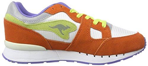 KangaROOS Coil-R1-Multi Unisex-Erwachsene Sneakers Mehrfarbig (prawn/wht/fluorite 608)