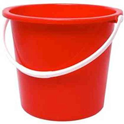 Jantex CD807 Round Plastic Buckets, Red Test