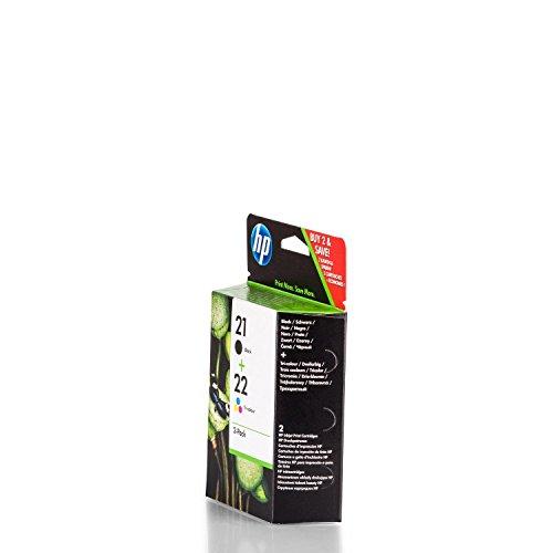 Original Tinte passend für HP DeskJet F 2100 Series HP 21+22 SD367AE445-2x Premium Drucker-Patrone - Schwarz, Cyan, Magenta, Gelb - 360 Seiten