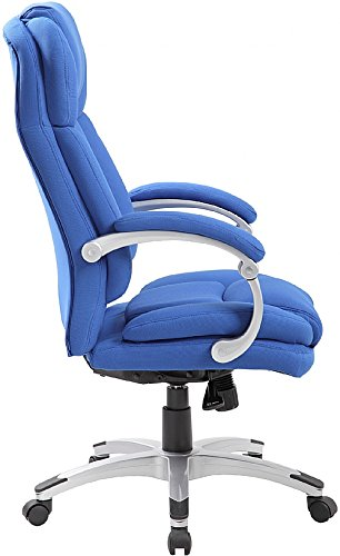 Aston Synchronous Fabric Manager Chair - Blue Fabric