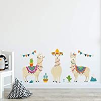 Llama Animals Indian Style Alpacas Wall Stickers for Kids Rooms Nursery Wall Decor Wall Art Home Decoration Accessories