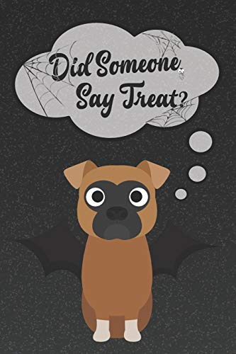 Boxer Dog Lined Notebook: A Halloween Themed Notebook For Boxer Lovers (Dog Halloween Notebooks and Journals, Band 32)