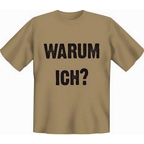 Witziges Fun-shirt - Tshirt als Geschenk mit Minishirt - Farbe: Sand - Warum ich Sand