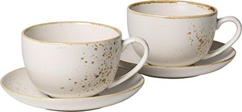 Villeroy & Boch Vivo Group Stone Ware White Juego de café con leche, 4 piezas, Gres, Blanco