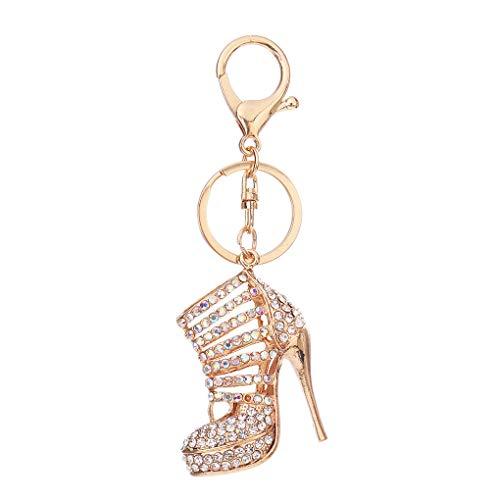 Preisvergleich Produktbild Sunlera Rhinestone Key Chains High Heel Women Purse Bag Pendant Key Holder Ring Crystal Keychain