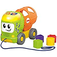 Fisher-Price- Camioncino Cercaforme 123 con Oltre 50 Canzoni Suoni e Frasi su Forme, Colori e Numeri, Giocattolo per Bambini 6+ Mesi, GFY39