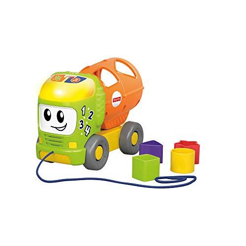 Fisher-Price GGV33 - Camión de Aprendizaje para clasificar y derramar, Juguete Musical para bebé