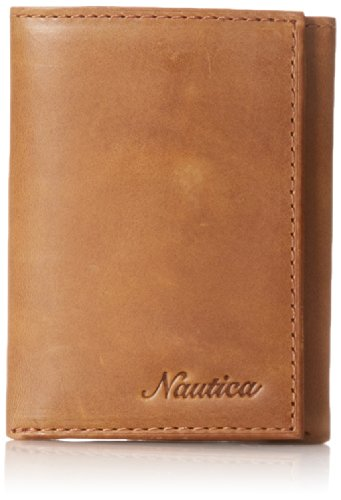 nautica-mens-leather-with-plaid-lining-trifold-wallet-brown