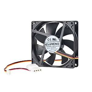 ELUTENG Raffreddamento PC 90mm 12V con 4 PIN + 3 PIN Interfaccia Ventilatore Silenzioso 7 lame per Computer Case Be Quiet Interno PC Fan Cooler DIY