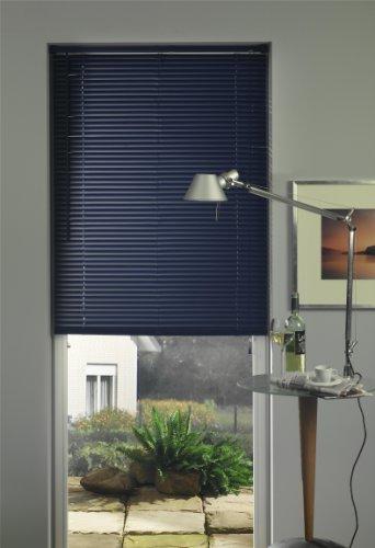 Liedeco |PVC Kunststoff-Jalousie schwarz 80 x 160 cm (Pvc-jalousie)