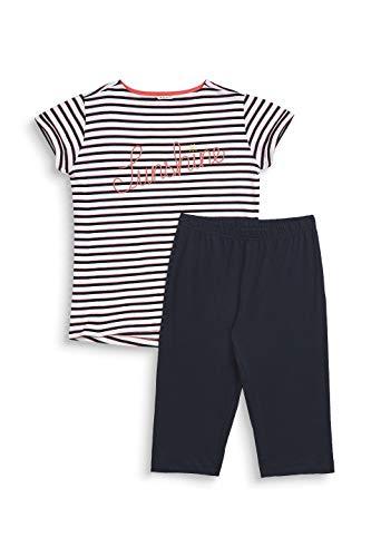 ESPRIT Mädchen Alice Yg Nw Pyjama 1/2 Zweiteiliger Schlafanzug, Weiß (White 100), 152 (Herstellergröße: 152/158) -