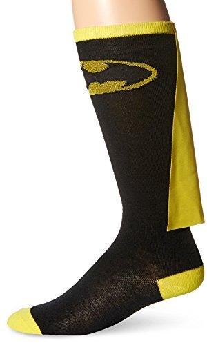 DC Comics Batman-Calzini con mantello da donna, al ginocchio, colore: nero