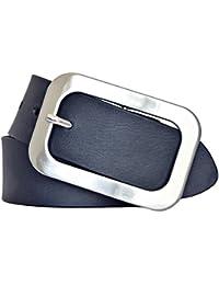 Vanzetti Damen Leder Gürtel Vollrindleder Damengürtel marine 40mm Ledergürtel