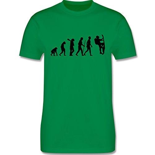 Evolution - Klettern Evolution - Herren Premium T-Shirt Grün