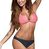 CICIYONER Frauen Bandeau Bandage Bikini Set Push-Up Brasilianische Badebekleidung Beachwear Badeanzug S-2XL