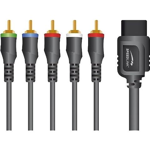 Speed Link SL-3414-SBK - Kit de cables de vídeo para Wii(1.7 metros), negro