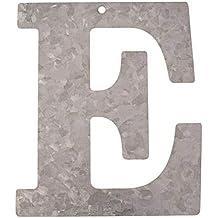 Metal Letra E, galvanizado Altura 12 cm Alfabeto - Iniciales