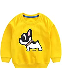 Mutter & Kinder Frühling Herbst Kinder Hoodies Solid Junge Mädchen Sweatshirts Cartoon Hunde Langarm Baumwolle Crew Neck