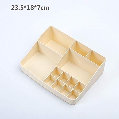 ZUXIANWANG Schmuckschatulle Box Gelb Einfache Plastische, kosmetische, Badezimmer Split Kosmetik Aufbewahrungsbox Desktop Schmuck Lippenstift Nagellack, Kosmetikkoffer