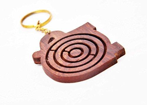 Donnez votre belle soeur à Rakhi Occasion Labyrinthe Jeux en bois de style Keychain Éléphant en forme