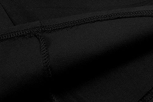 CRAVOG Damen Bodycon Kleid Cocktail Abendkleid Pencil Kleid Schwarz