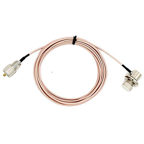 TengKo 5M Handfunkgeräte Antennenverlängerung Kabel RG-316 mit PL-259 und SO-239 Steckverbinder für Autoradio Kenwood ICOM -