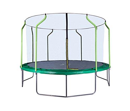 Hornet Trampolin - Garten-Trampolin, Mehrkartonvariante - Outdoor Trampolin, 400 cm, schwarz/grün