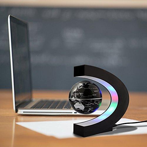 C levitazione magnetica LED Rotating Globe World Map sfera galleggiante Globe Decorazione Della Casa Regali Compleanno Imparare l'istruzione Insegnamento Ufficio - 2