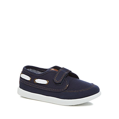 Debenhams Bluezoo Kids 'Boys' Navy Canvas Boat Shoes 9 Younger