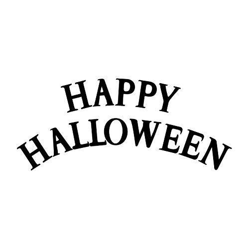 nyl, Motiv Happy Halloween, 48,3 x 101,6 cm, lustige Jahreszeiten, Dekoration, Aufkleber - Kinder Teenager Erwachsene Innen Außen Wand Fenster Wohnzimmer Büro Decor ()