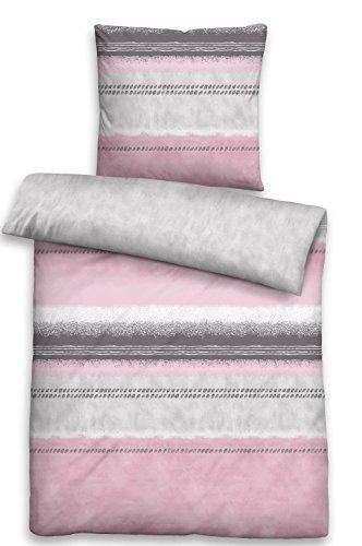 Biberna Parure de lit en satin mako – 80 x 80 et 135 x 200/0636040–111
