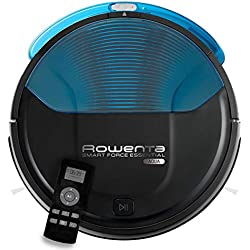 Rowenta Smart Force Essential Aqua RR6971WH - Robot aspirador 2 en 1, aspira y friega, con sensores anticaída, bateria ión-litio de 150 minutos de autonomía, incluye mando a distancia y base de carga
