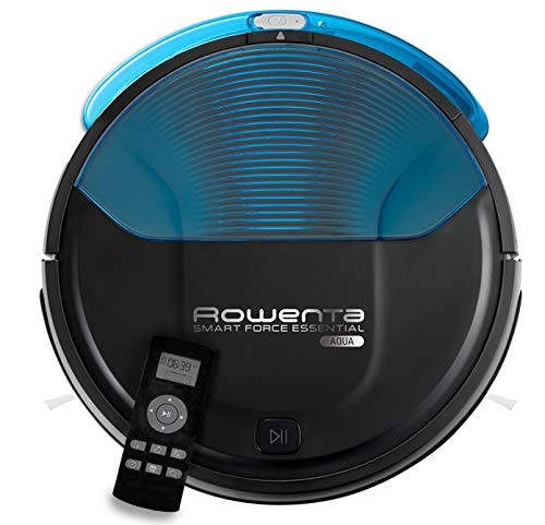Rowenta Smart Force Essential Aqua RR6971WH - Vacuum cleaner robot 2 in 1, sucking and scrubs, sensors anticaída, Lithium-ion battery 150 minutes of autonomy, It includes remote control and charging base