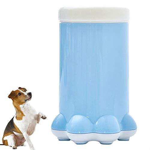 Alaof Hund Katzen Pfote Reiniger Tragbar Haustier Silikon Fuß Waschmaschine Pfote Reiniger Zum Reinigung Schmutzig Oder Schlammige Pfote,Blue,11 * 17.2cm -
