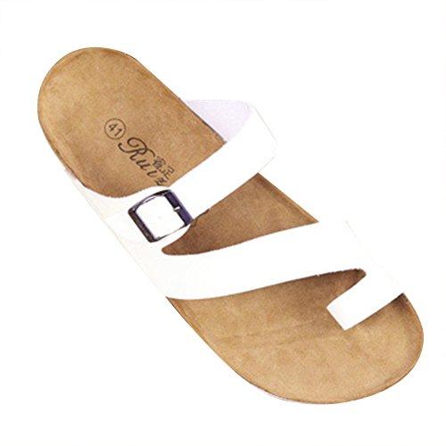 Pantofole Unisex Adulto - Sandali Comodi Eleganti Ciabatte Infradito Bianco