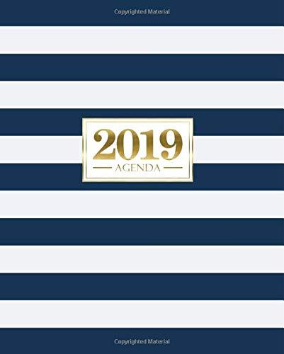 Agenda 2019: 19x23cm : Agenda 2019 semainier français : bleu et or 6194 par Papeterie Bleu