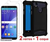 Samsung Galaxy Xcover 3 g388f 2 Films Vitre Verre Trempé protection xcover3 + 1...