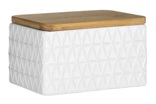 Premier Housewares Tri, Céramique, Blanc, 8 x 13 x 8 cm