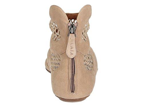 Sandales tongs plates Alaïa en daim beige - Code modèle: 4E3Y643CC59 Beige