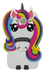 Idea Regalo - 3C Collection Cover J3 2016 Unicorno, Cover Galaxy J3 2016 Unicorno, Cover Cartoni Animati per Samsung Galaxy J3 2016 Silicone Gomma