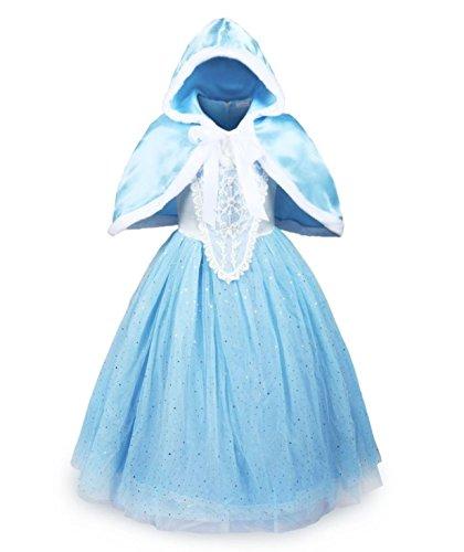 Buena Calidad Diseño más reciente Princesa Disfraz Traje Parte Las Niñas Vestido(4-5 años)