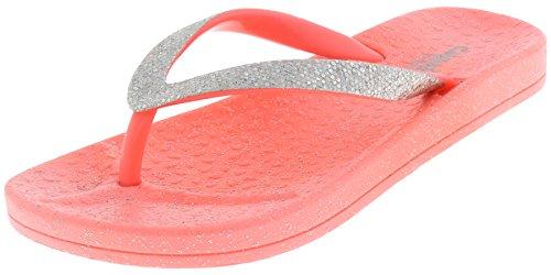 Capelli New York Girls Fashion Flip Flops with AB Rhinestones