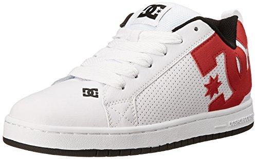 DC Shoes Court Graffik, Chaussures de skate homme blanc/rouge/noir