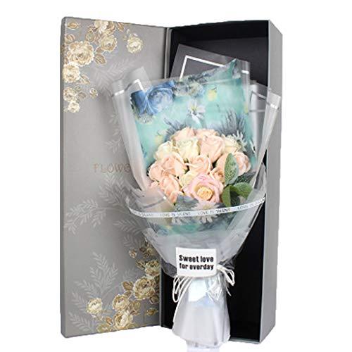 ZHHR Weihnachtsgeschenk Praktische Rosenseifeblume Valentinsgruß-TagesSeifen-Blumen-Geburtstagsgeschenk Hochzeitsgeschenk Blaues Weiß