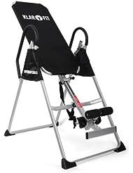 Klarfit Relax Zone Basic Table d'inversion (exercices dorsaux et relaxation musculaire, inversion max de 180°, sangle en nylon, supporte jusqu'à 135kg)