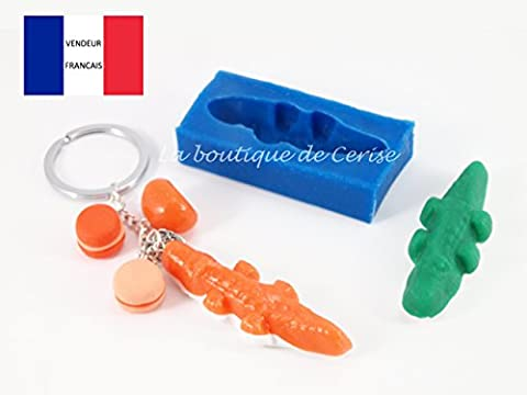 Moule silicone miniature bonbon Crocodile pour fimo, pâte à modeler, resine, porcelaine froide