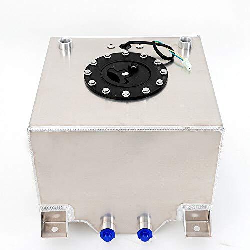 20L Universal Aluminium Kraftstofftank mit Ölstandsensor 0-90 Ohm für Hot Rod Racing SUV Car