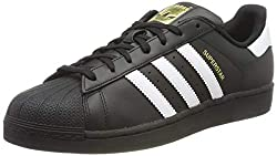 adidas Unisex Adults Superstar Foundation Sneakers, Black (Core Black/Footwear White/Core Black), 7 UK (40.7 EU)