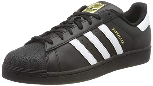 adidas Originals Superstar Foundation Herren Sneakers, B27140, Schwarz (Core Black/Ftwr White/Core Black), EU 41 1/3 - Schuhe Schwarz Skate Weiß