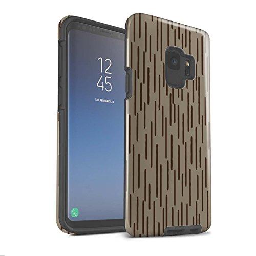 Stuff4® Glanz Harten Stoßfest Hülle/Case für Samsung Galaxy S9/G960 / Regentropfen Kalten Krieges Muster/Militär Camouflage Tarnung Kollektion